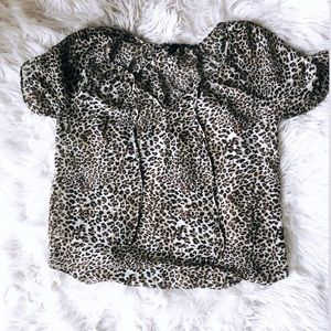 SM leopard top